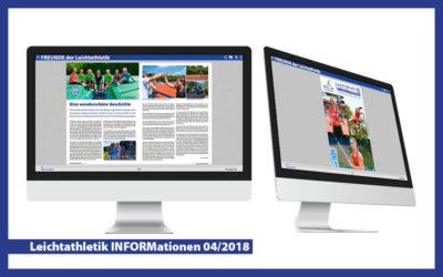 Leichtathletik INFORMationen 04/2018: FREUNDE verbinden