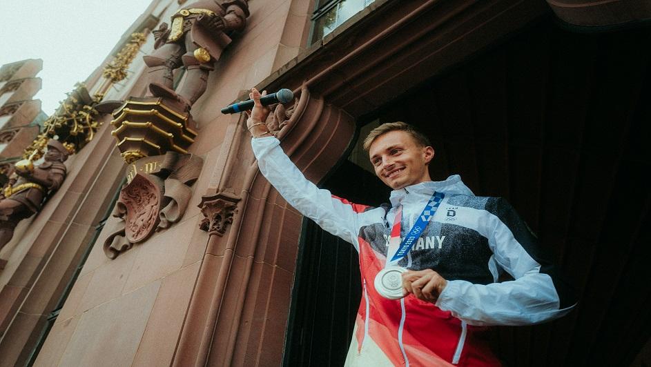 Silbermedaillengewinner im Gehen über 50km Jonathan Hilbert